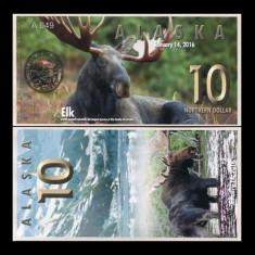 Alaska 2016 - 10 northern dollar UNC, polimer