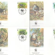 Cocos Islands 1992 - pasari WWF, serie FDC