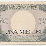 Romania 1941 septembrie - 1000 lei aUNC