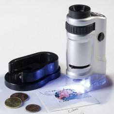 Microscop cu zoom si iluminare, marire 20-40x