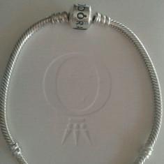 BRATARA PANDORA 17 18cm, cutie, argint marcaj S 925 ALE, noua - Bratara argint