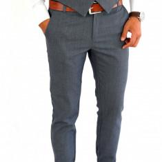 Pantaloni tip ZARA gri - pantaloni barbati - pantaloni office - 7884, Marime: S, M, Culoare: Din imagine