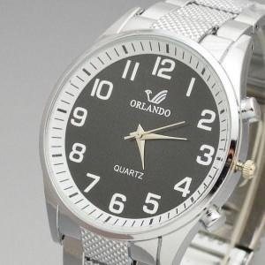 Ceas Quartz Casual Fashion Elegant ORLANDO pt BARBATI  Ceas Clasic Alb Negru M4