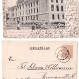 Alba Iulia 1900 - Gimnaziul romano-catolic din cetate, ilustrata