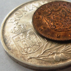 Licitatie Monede Romania - Patina: 2 bani 1880 + 25000 lei 1946 argint. - Moneda Romania