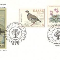 Grecia 1970 - fauna-flora, FDC