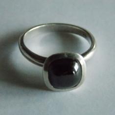 Inel de argint cu onix -1233 - Inel argint