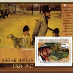 Guinea 2009 - pictorul Edgar Degas, colita neuzata