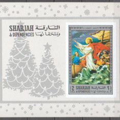Sharjah 1971 - The Life of Jesus, colita ndt neuzata silver edit - Timbre straine