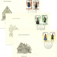 DDR 1964 - costume nationale, serie FDC