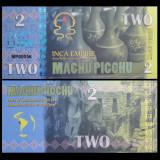 Machu Picchu 2016 - 2 intis UNC - Timbre straine