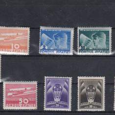 ROMANIA 1931/36, LOT TIMBRE AVIATIE MNH - Timbre Romania, Nestampilat