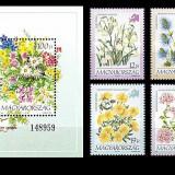 Ungaria 1994 - flori din Europa, serie+colita neuzata