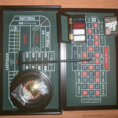 Casino set joc ruleta, blackjack, poker, barbut - Joc board game