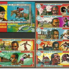 Guinea Ecuatoriala 1972 - JO MUNICH, SERIE+COLITA NEUZATA