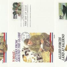 SUA 1993 - ww2, 3 buc carton FDC 4