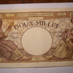 2000 lei 1943 Septembrie XF ++ - Bancnota romaneasca