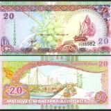 Maldive 2000 - 20 rufiyaa UNC