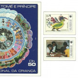 Sao Tome 1979 - UNICEF, serie+colita neuzata