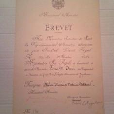Brevet pt Furajera Mihai Viteazul + Virtute / Virtutea Militara 1931 . Rar !! - Ordin/ Decoratie, Romania 1900 - 1950