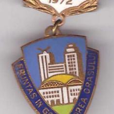 Insigna Fruntas in gospodarirea orasului 1972