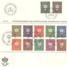 Liechtenstein 1968 - furstenkrone, serie FDC