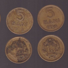 Romania 1952-1957 - set monede de 5 bani - Moneda Romania