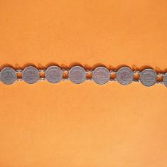 SUPERBA BRATARA DIN 8 MONEDE DE ARGINT 1/2 FRANCI - Bratara argint