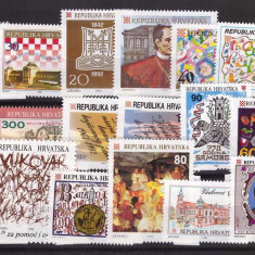 Croatia 1992 - lot timbre neuzate