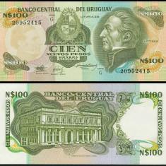Uruguay 1987 - 100 new pesos UNC - bancnota america