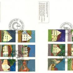 Liechtenstein 1978 - cladiri, serie pe FDC