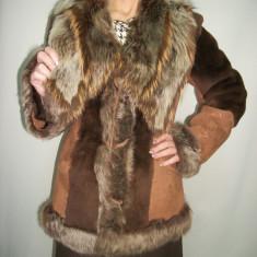 Blana eleganta, de culoare maro, roz cu design modern (Culoare: MARO, Marime: L/XL) - Palton dama