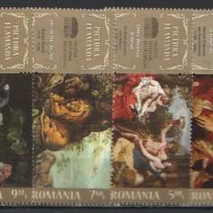 2016 - pictura flamanda, serie stampilata - Timbre Romania