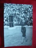 Fotografie Corina Chiriac - in concert pe stadion , dim.= 11,3x17 cm