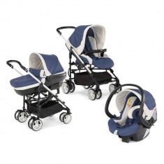 Carucior Chicco 3 in 1 MyCity, Blue, 0 luni+ - Carucior copii 3 in 1