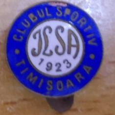 Insigna Clubul Sportiv ILSA Timisoara 1923, rara