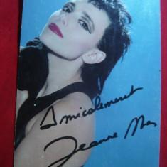 Fotografie cu autograf Jeanne Mas -Ed. de Jeanne Mas Fan Club