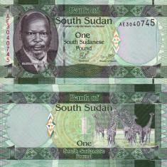 SUDANUL DE SUD 1 pound 2011 UNC!!! - bancnota asia