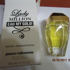 PARFUM TESTER LADY MILLION EAU MY GOLD -80 ML ---SUPER PRET! - Parfum femeie Paco Rabanne, Apa de toaleta