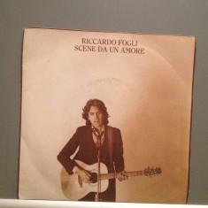 RICCARDO FOGLI - SCENE DA UN AMORE (1980/PARADISO) - VINIL Single/RAR/ca NOU - Muzica Pop Altele