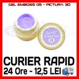 GEL EMBOSS CANNI 05 - PICTURA 3D PT LAMPA UV, MANICHIURA GEL, GELURI COLOR - Gel unghii Sina