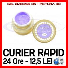 GEL EMBOSS GD COCO 05 - PICTURA 3D PT LAMPA UV, MANICHIURA GEL, GELURI COLOR