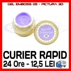 GEL EMBOSS GD COCO 05 - PICTURA 3D PT LAMPA UV, MANICHIURA GEL, GELURI COLOR