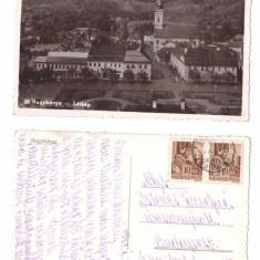 Baia Mare 1943 - vedere de sus, biserica, ilustrata circulata