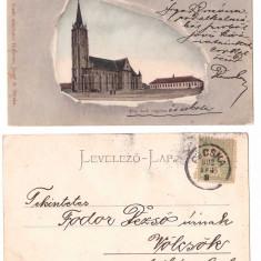 Pecica (Arad) 1902 - Biserica, ilustrata circulata