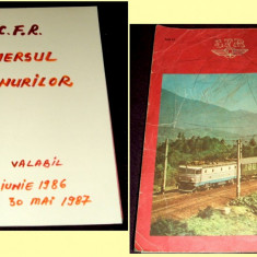 Mersul trenurilor de calatori CFR 1986-1987, Caile Ferate Romane - Ghid de calatorie