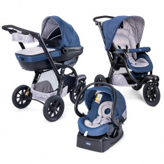 Carucior Chicco Trio Activ3, Car Kit, 0+luni, BluePassion - Carucior copii 3 in 1