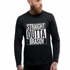 Bluza barbati neagra - Straight Outta Brasov, Marime: S, M, L, XL