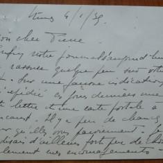 Scrisoare catre prof. Constantinescu Iasi, Inchisoarea militara Chisinau, 1939 - Autograf