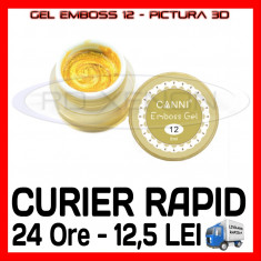 GEL EMBOSS GD COCO 12 - PICTURA 3D PT LAMPA UV, MANICHIURA GEL, GELURI COLOR, Gel colorat